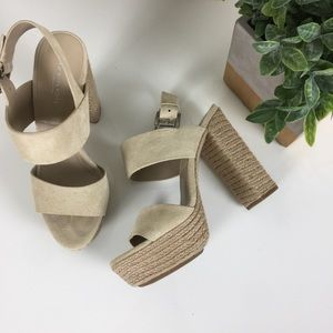 Michael Kors Collection | Suede Espadrille Heels